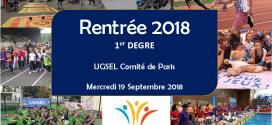 RÉUNION 1er DEGRÉ (19/09/2018)