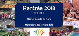 RÉUNION DU 2nd DEGRÉ (19/09/2018)